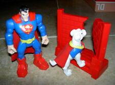 DC Comics SUPERMAN & Krypto Figure approx 4.75 inches tall Mattel 2009 USED