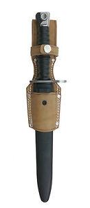 Koppelschuh für Seitengewehr / Bajonett – Leder natur - NEUWARE