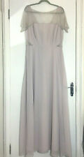 BNWT ASOS TALL GREY LACE DETAIL BRIDESMADE PROM MAXI DRESS SIZE 18 ♡♡♡