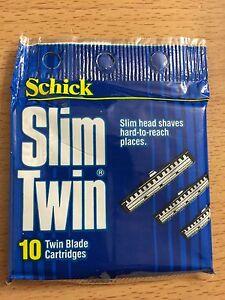 50 Schick Slim Twin Blade Razor Refill Cartridges New In Package
