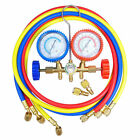 "R410A R22 Manifold Gauge Set AC A/C 5FT Color Hose Air Conditioner HVAC 60"" New"