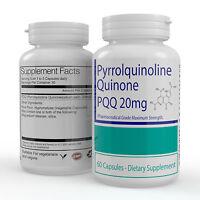 Premium PQQ (Pyrroloquinoline-Quinone) Antioxidant Extract 20mg 60 VEG CAPSULES