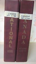 Canada Stamp Collection 2 Albums 1857 to 1996 All In Sho - Gard Very Nice