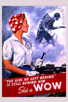 Shes a Wow Retro Vintage WPA Art Project Poster 12x18 Inch Poster - 12x18