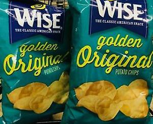 2 Bags Wise Golden Original Potato Chips  +*~*+ FAST FREE SHIPPING ! +*~*+