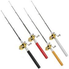 A1St Telescopic Mini Portable Pocket Fish Pen Aluminum Alloy Fishing Rod Pole+Re