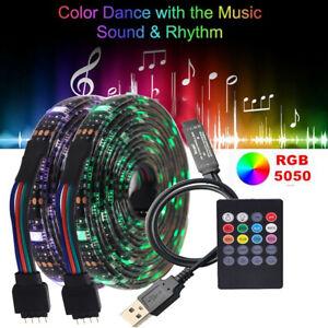 5050 SMD RGB LED Streifen Stripe Licht Band Leiste Wasserdicht+Musik Controller