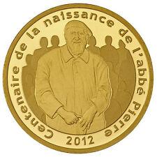 Pièce de 5 euros or 1/25 oz - Abbé Pierre - Belle épreuve BE - 2012 - France
