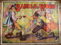 """c.1930's Original Babes in the Wood Printed Lithographed Poster (40""""x30"""")"""