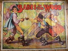 """C. 1930's original babes dans le bois imprimé lithographed poster (40 """"X30"""")"""