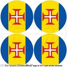 "MADEIRA ISLAND Portugal Portuguese 50mm (2"") Bumper-Helmet Stickers, Decals x4"