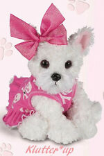Bearington Bear Plush White Dog Pink WILD WILD WESTIE #540140 New Fall 2012