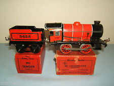 "VINTAGE HORNBY '0'  C/W MODEL No.M1  0-4-0 LOCO & TENDER  ""RED VERSION"" VN MIB"