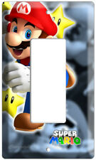 New Super Mario Bros Single Decora Light Switch Wall Cover Game Room Art Decor