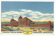 Gold Medal Beer Stegmaier Brewing Company Linen Postcard