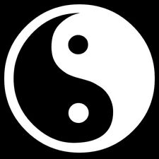YIN YANG Symbol Sticker Vinyl Decal Taoism Daoism Harmony Shadow and Light Icon