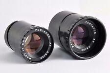 2x Pentacon  2.8/80  Objektiv Lens Kino Bokeh Trioplan