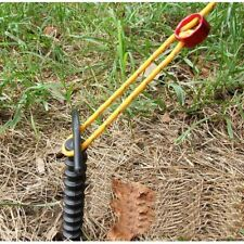 5pcs Plastic Screw Spiral Tent Peg Stakes Nail Outdoor Camping Awning Trip WE9X