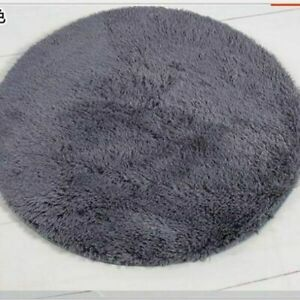Round Carpets Anti-Slip Mats For Baby Crawling Soft Rugs Beige Artificial Plush