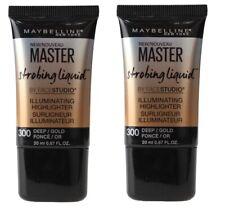 2 x Maybelline Master Strobing Liquid Illuminating Highlighter 300 Deep/Gold NEW