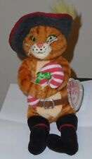 Ty Beanie Baby ~ PUSS IN BOOTS (Shrek The Halls DVD Exclusive)(8.5 Inch) MWMT