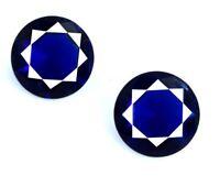 4.35 Ct Blue Tanzanite Gemstone 8 x 8 mm Natural Round Matching Pair Certified