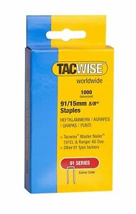 Tacwise 91 Series Heavy Duty Staples 15mm to 45mm 1000 Staples in Each Box
