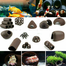 Aquarium Tank Breeding Hiding Cave Shelter Tube For Fish Shrimp Spawn Ornament