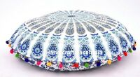 "32"" Indian Floor Pillow Cover Cotton Mandala Sham Large Cushion Pouf Meditation"