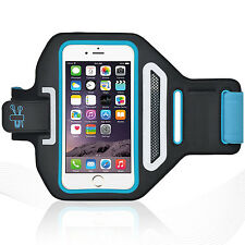 "iPhone 6/6S Plus 5.5"" Blue Lycra Armband Running Reflective CreditCard Holder"