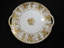 Hand Painted Nippon Gold Detailed Dinner Plate- Great Shape - Collectors Item