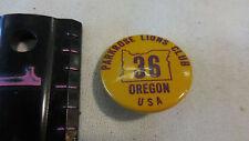 VINTAGE Lions Club Pins Oregon Portland Parkrose