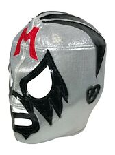 MIL MASCARAS (pro-fit) Adult Lucha Libre Halloween Costume Mask - Silver