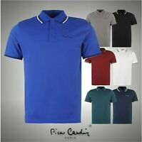 Mens Pierre Cardin Tipped Polo Shirt Short Sleeves Top Sizes from S to XXXXL