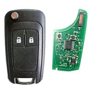 Auto Funk Fernbedienungschlüssel  2Tasten 434MHz ID46 für OPEL Meriva B Corsa D