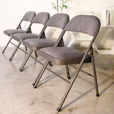 4 Pack, Maxchief Upholstered Padded Folding Office Practical Portable Chair