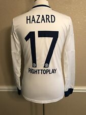 England Chelsea Hazard CL Belgium Player Issue Formotion Shirt 7 Match Jersey