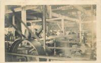 C-1910 Factory Industry Machinery Equipment Interior RPPC Photo Postcard 12690
