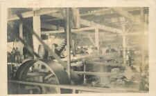 C-1910 Factory Industry Machinery Equipment Interior RPPC Photo Postcard 12690