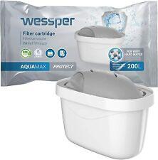Wessper 4er Pack Wasserfilter Kartuschen für Hartes Wasser Kompatibel mit BRITA