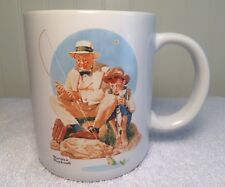 """Coffee Mug Tea Cup Norman Rockwell """" Catching The Big One """" Museum Collections"""
