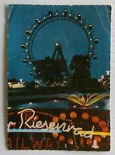 Vienna The Prater and the Giant Wheel by Night 1967 Postcard (P288)