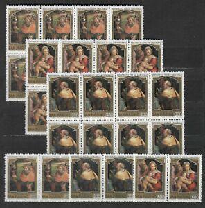 DEALER STOCK SAN MARINO MNH 1981 Christmas Paintings 3v 10 SETS s32682