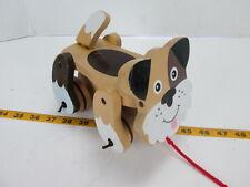 Wooden Pull Toy Dog Melissa & Doug Brown/Black/White Wobbly Puppy Preschool T
