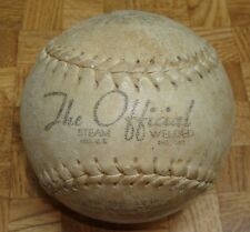 """1950s The Official Steam Welded Soft Ball No. 212 Size 12"""" Inches Long Fibre"""
