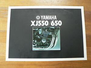 YAMAHA BROCHURE XJ550 & 650 PROSPEKT FOLDER MOTORRAD BIKE 1981 ?