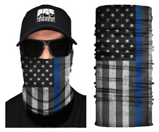 Face Mask Thin Blue Line Us Flag Sun Shield Neck Gaiter Headband Bandana Du Rag