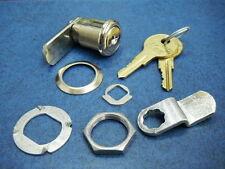 """KAR 73656 Single Bitted 7/8"""" Cam Lock Set ILCO N54G 2 Keys"""