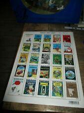Tintin&Hergé-Planche 25 timbres collector 2007-Les albums en étranger