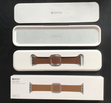 Genuine Apple Watch BROWN LEATHER Strap Modern Buckle Small 38mm /40mm RRP £149